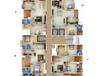 Floor Plan of Luxury 2BHK Apartment Near NPOL and Bharatha Matha College and Infopark