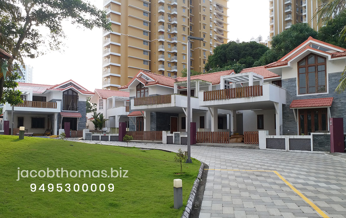Front View of Luxury Villas,Kakkanad